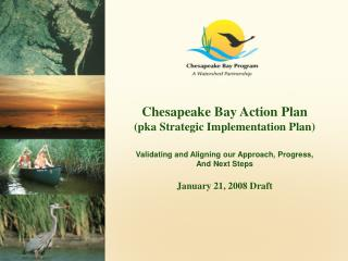 Chesapeake Bay Action Plan (pka Strategic Implementation Plan)