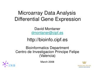 Microarray Data Analysis Differential Gene Expression
