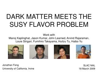 DARK MATTER MEETS THE SUSY FLAVOR PROBLEM