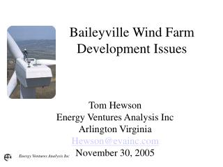 Baileyville Wind Farm Development Issues