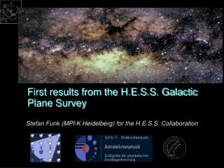 First results from the H.E.S.S. Galactic Plane Survey