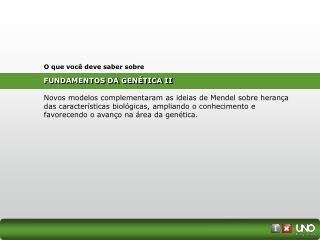 FUNDAMENTOS DA GENÉTICA II