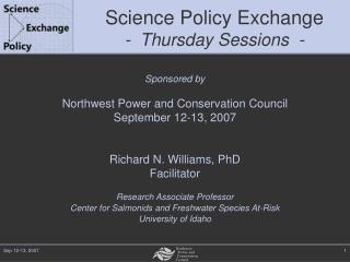 Science Policy Exchange - Thursday Sessions  -