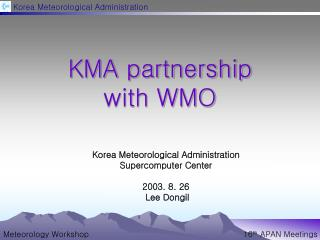 KMA partnership  with WMO