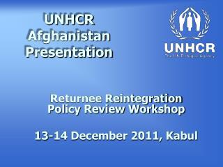 UNHCR Afghanistan Presentation