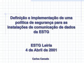 ESTG Leiria 4 de Abril de 2001