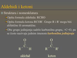Aldehidi i ketoni
