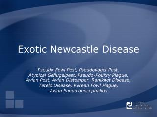 Exotic Newcastle Disease