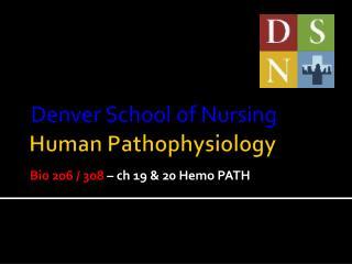 Human Pathophysiology