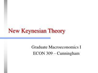 New Keynesian Theory