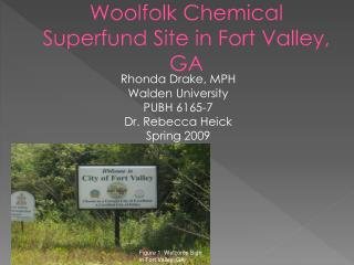 Woolfolk  Chemical Superfund Site in Fort Valley, GA