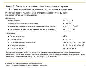 Кубенский А.А. Функциональное программирование.