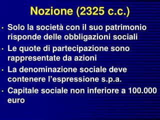 Nozione (2325 c.c.)