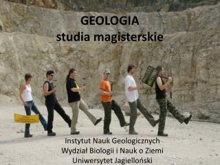 GEOLOGIA studia magisterskie