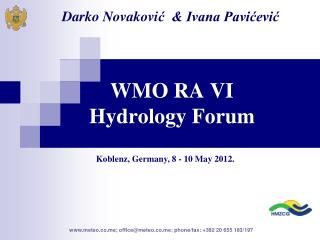 WMO RA VI  Hydrology Forum