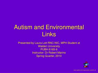 Autism and Environmental Links