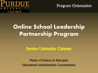 Online School Leadership Partnership Program