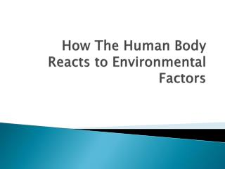 How The Human Body Reacts to Environmental Factors
