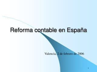 Reforma contable en España