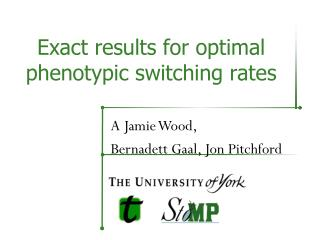 Exact results for optimal phenotypic switching rates