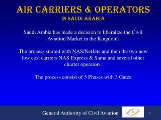 Air Carriers & Operators In Saudi Arabia