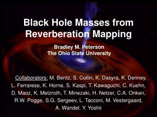 Black Hole Masses from Reverberation Mapping