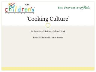 �Cooking Culture�