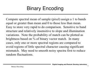 Binary Encoding