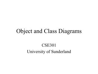 Object and Class Diagrams