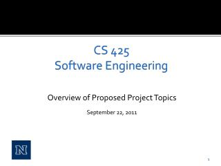 CS 425 Software Engineering