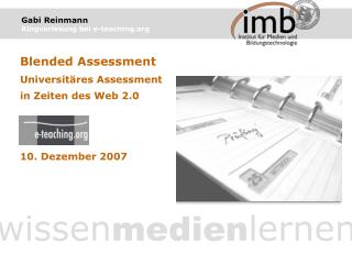 Gabi Reinmann Ringvorlesung bei e-teaching