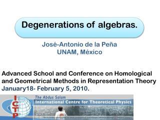 Degenerations  of algebras. José-Antonio de la Peña UNAM, México