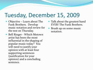 Tuesday, December 15, 2009