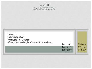Art II Exam Review