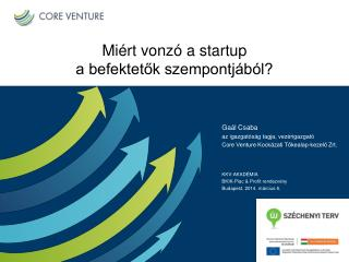 Miért vonzó a startup  a befektetők szempontjából?