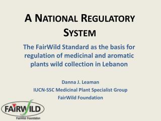 A National Regulatory System