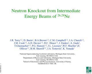 Neutron Knockout from Intermediate Energy Beams of  26,28 Ne
