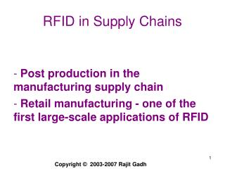 RFID in Supply Chains