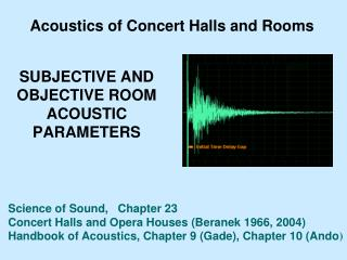 SUBJECTIVE AND OBJECTIVE ROOM ACOUSTIC PARAMETERS