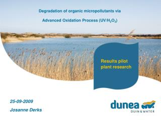 Degradation of organic micropollutants via Advanced Oxidation Process (UV/H 2 O 2 )