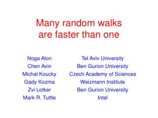 Many random walks are faster than one