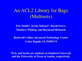 An ACL2 Library for Bags (Multisets)