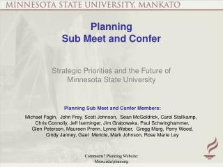 Planning  Sub Meet and Confer