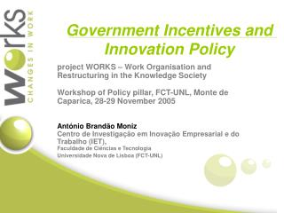Government Incentives and Innovation Policy