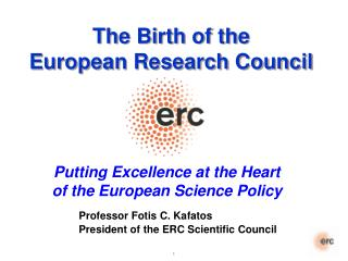 The Birth of the European Research Council