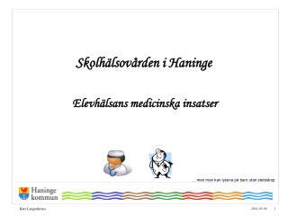 Skolhälsovården i Haninge
