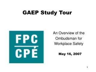 GAEP Study Tour