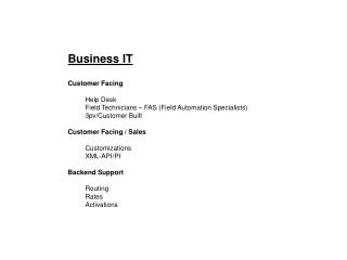 Business IT Customer Facing Help Desk Field Technicians – FAS (Field Automation Specialists)