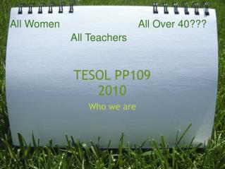 TESOL PP109 2010
