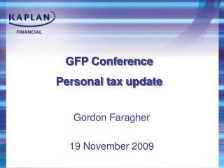 Gordon Faragher 19 November 2009